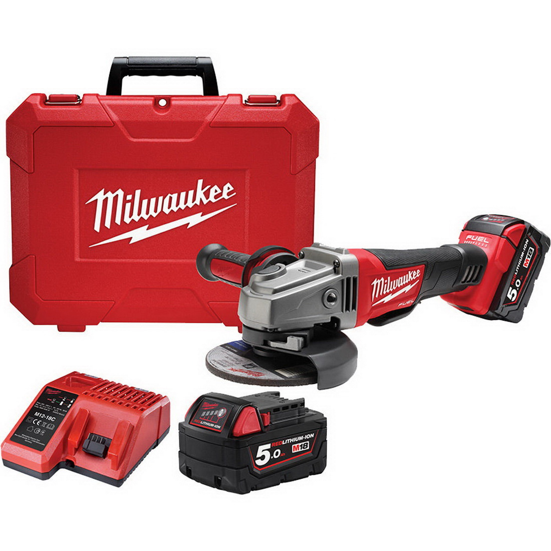 M18 FUEL Cordless Angle Grinder Kit 125mm