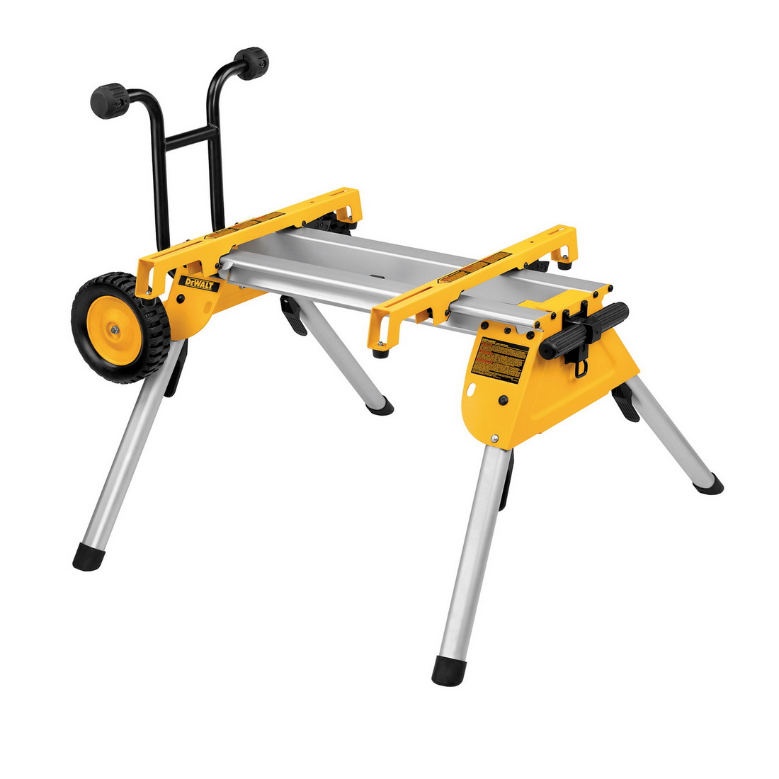 910 x 830mm 68Kg Heavy Duty Rolling Table Saw Stand Aluminium