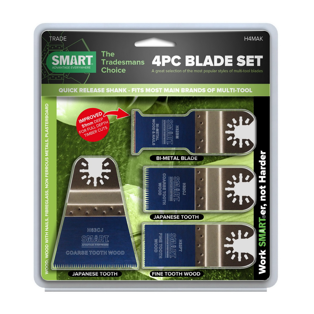 Home Range 4-Piece Multi Tool Blade Set