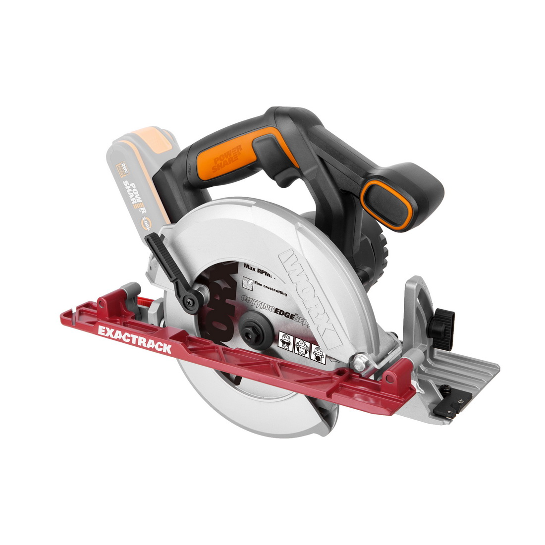 Cordless Circular Saw Skin 165mm 20V 4900rpm WX530.9