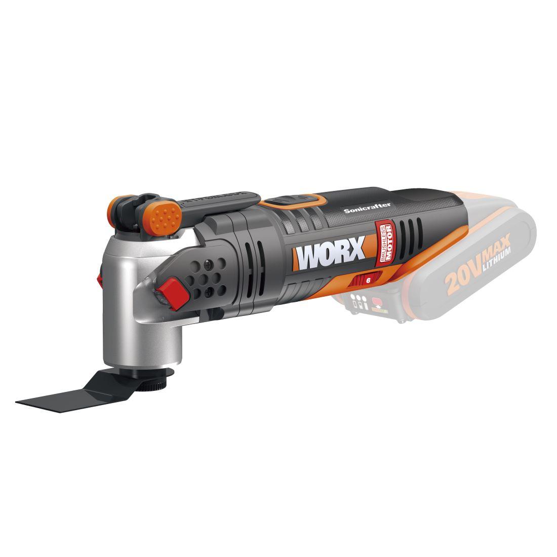 Li-Ion Brushless Multi-Tool Skin Only 20V 8000 -18000/min WX693.9