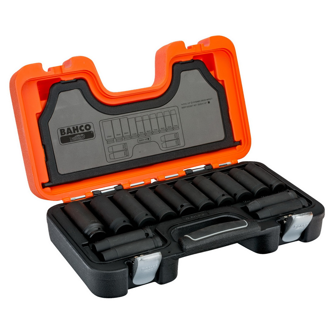 14 Piece 1/2in Square Drive Mixed Impact Socket Set