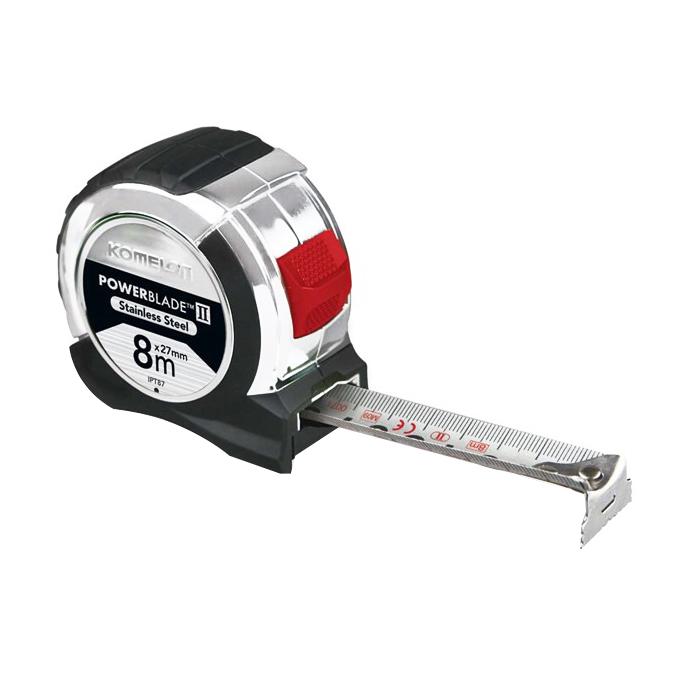8m Powerblade Pocket Tape Stainless Steel