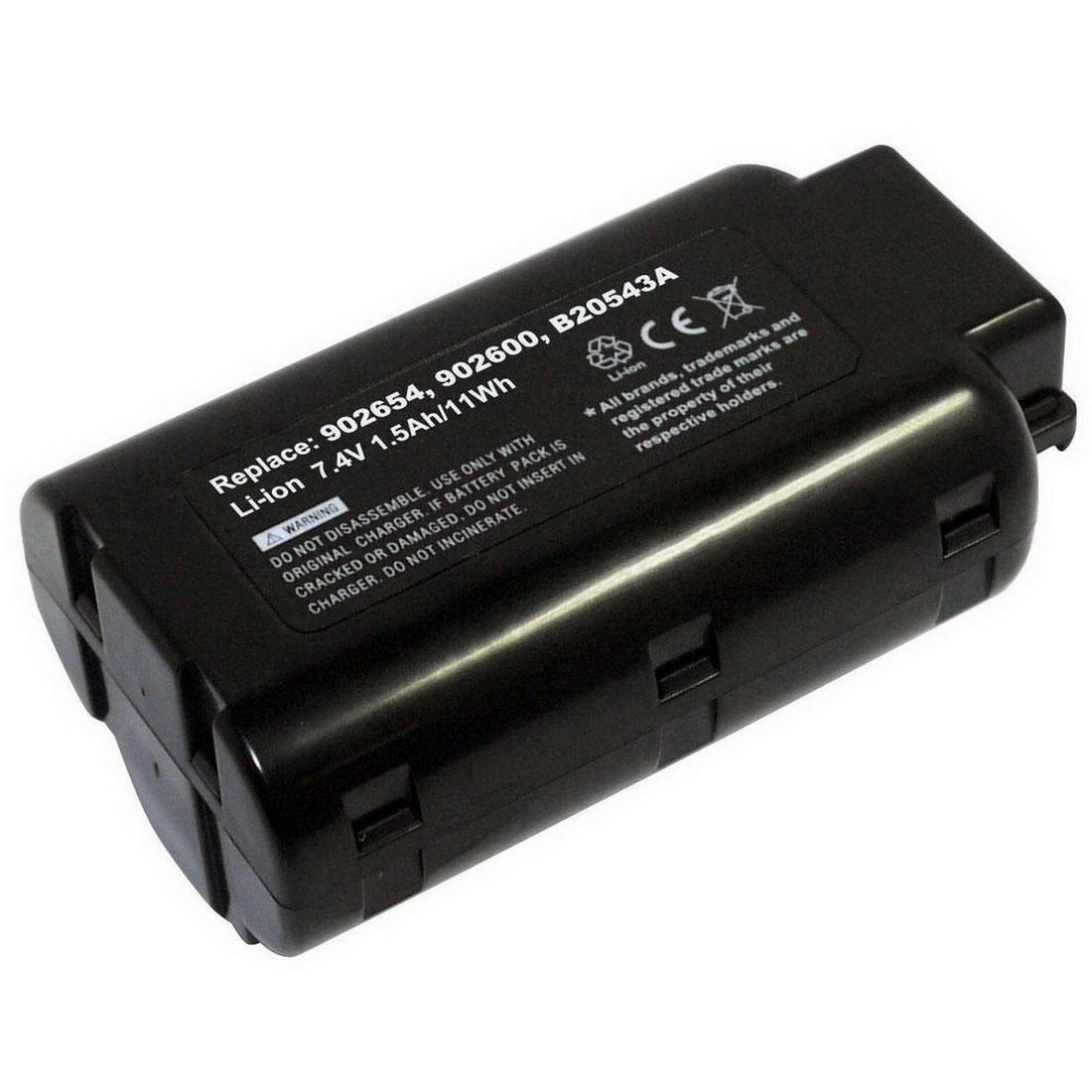 Impulse 7.4V 1500mAh Lithium-Ion Tool Battery Black