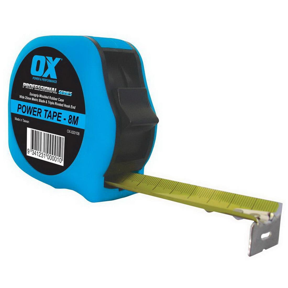 Professional 8m Duragrip Metric Tape Measure