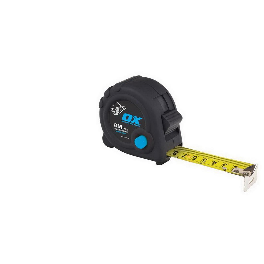 Trade Series 8m Duragrip Tape Measure Nylon Coated Steel