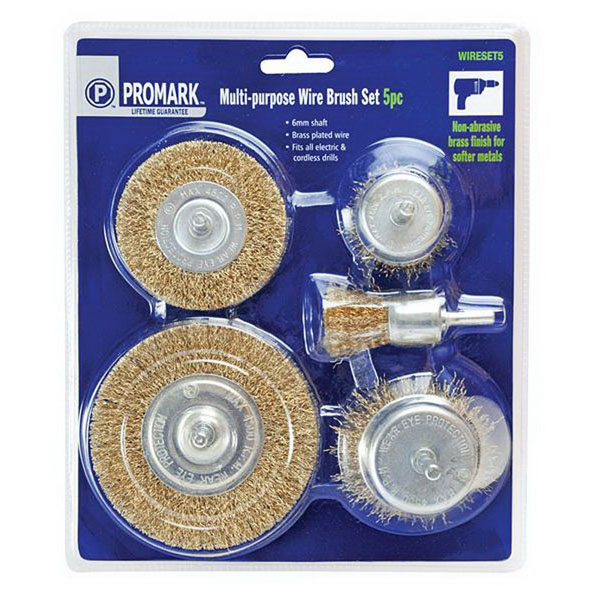 5-Piece Multipurpose Rotary Wire Brush Set