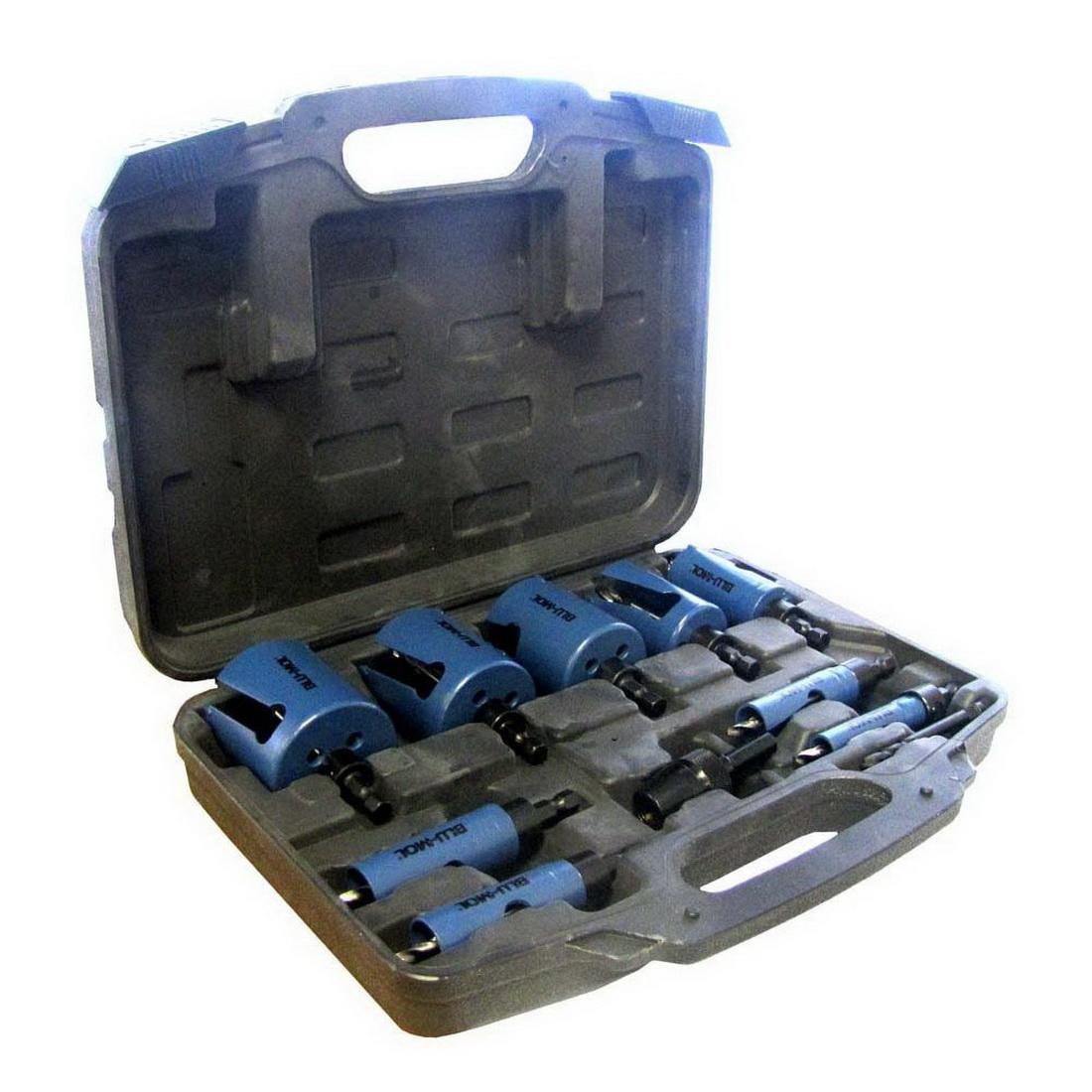 16-60mm 11-Piece Quick Change Hole Saw Kit Tungsten Carbide