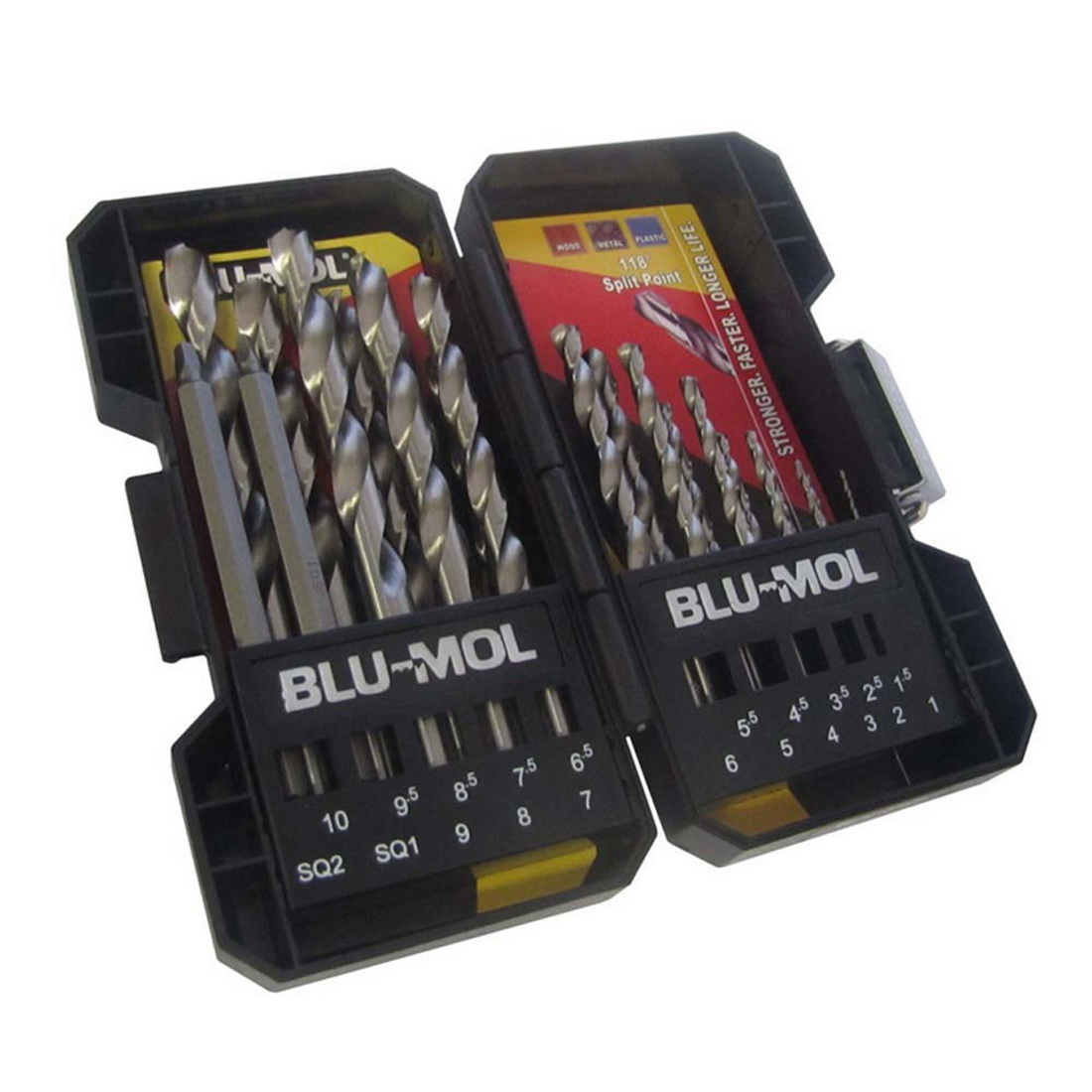 1-10mm 19-Piece Drill Bit Set