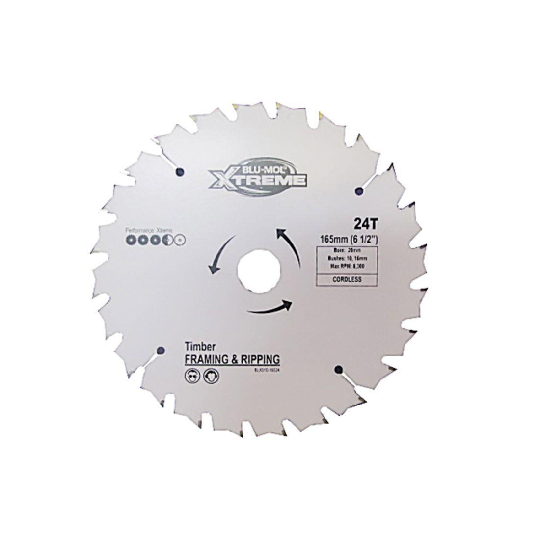 165 x 20mm 24TPI Circular Saw Blade