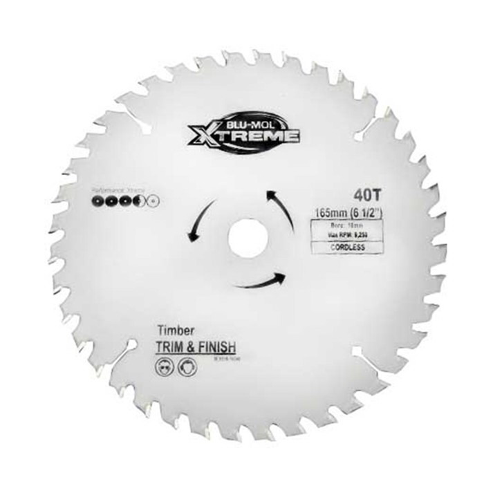 165 x 16mm 40TPI Circular Saw Blade