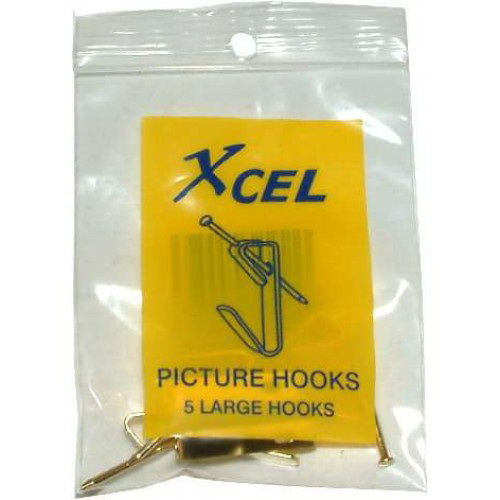 Single Picture/Mirror Hook Large 5 Pack