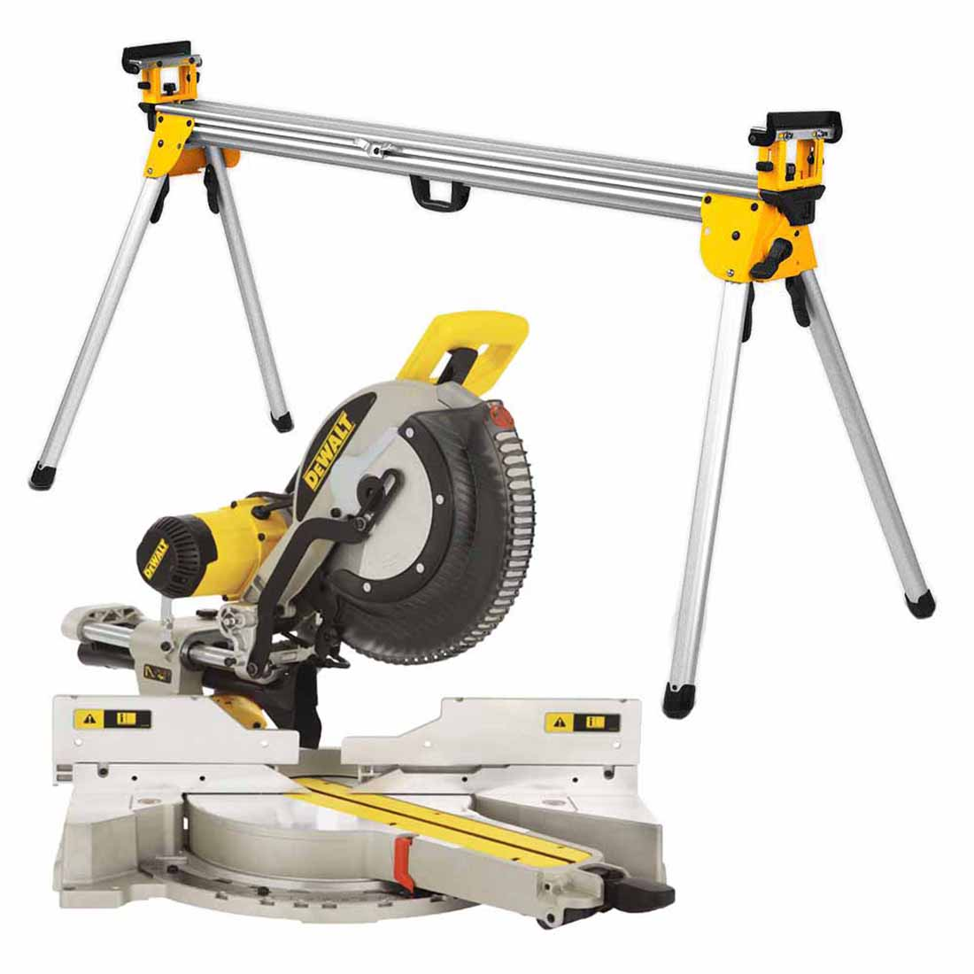 305mm Dual Bevel Slide Compound Mitre Saw & Stand Combo