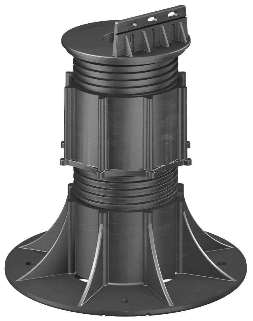 Self-Leveling Swivel Head 140-230mm Black NJSE06