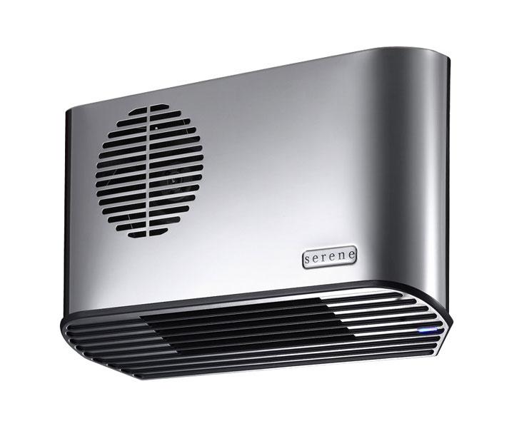 Serene All Metal 2.24kW Electric Bathroom Heater Stainless Steel