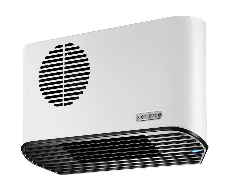 Serene All Metal 2.24kW Electric Bathroom Heater White