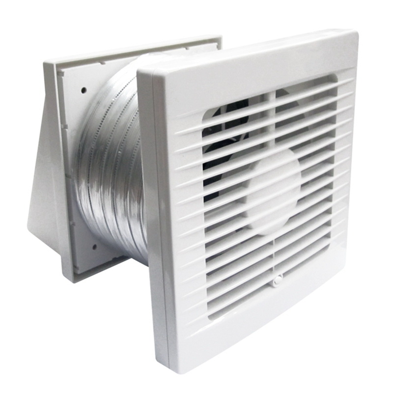 Classic Standard Profile 150mm Through Wall Exhaust Fan Kit White