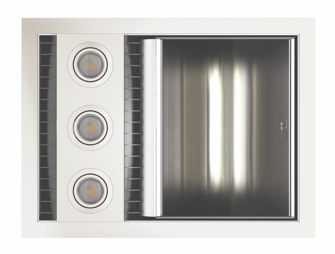 IXL  Neo 875W Bathroom Single Heat / Fan / Light Unit Silver