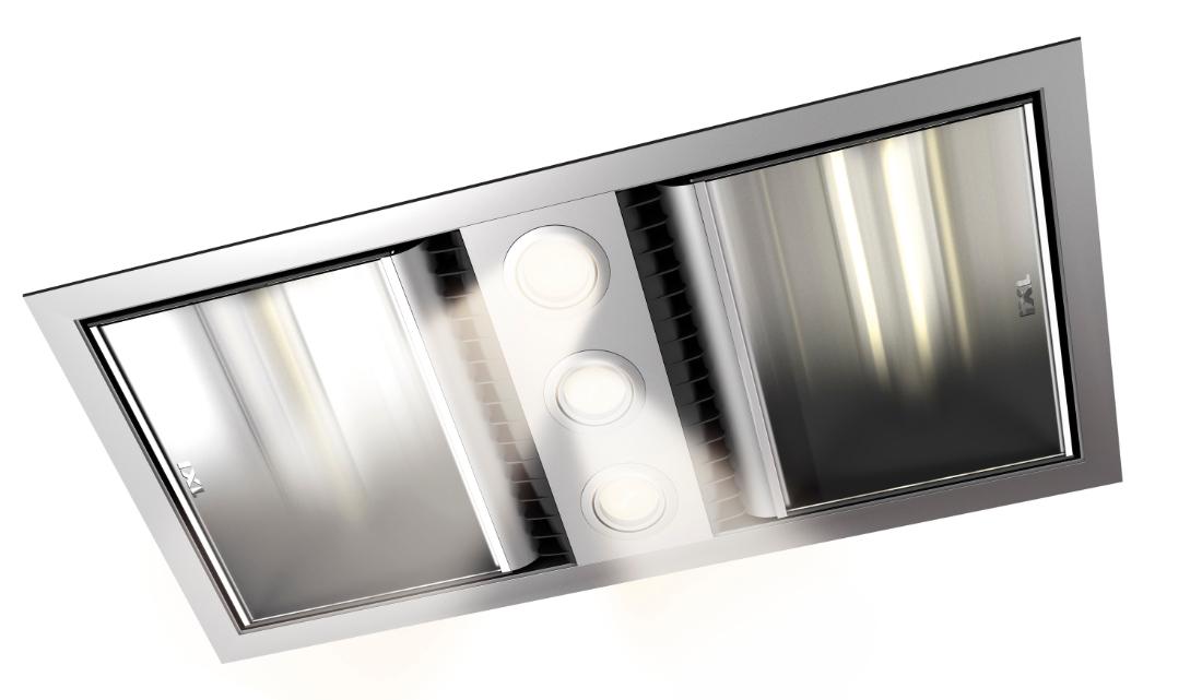 IXL  Neo 1.6kW Bathroom Dual Heat / Fan / Light Unit Silver