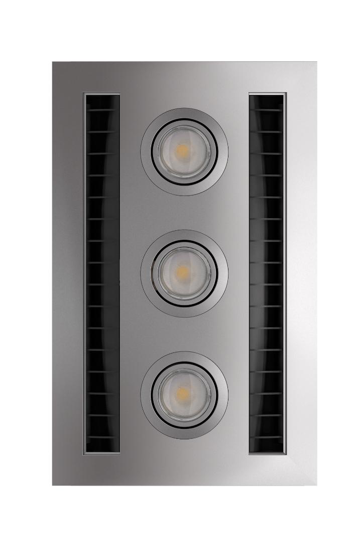 IXL  Neo Vent n Lite Bathroom Exhaust Fan Unit Silver