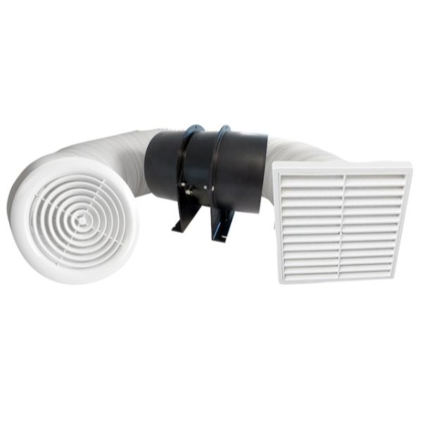 Classic Inline Extraction Fan Kit 125mm