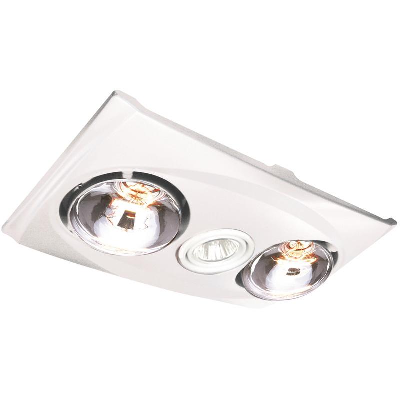 Pro-Series Low Profile 125mm 2 Light Heat Fan