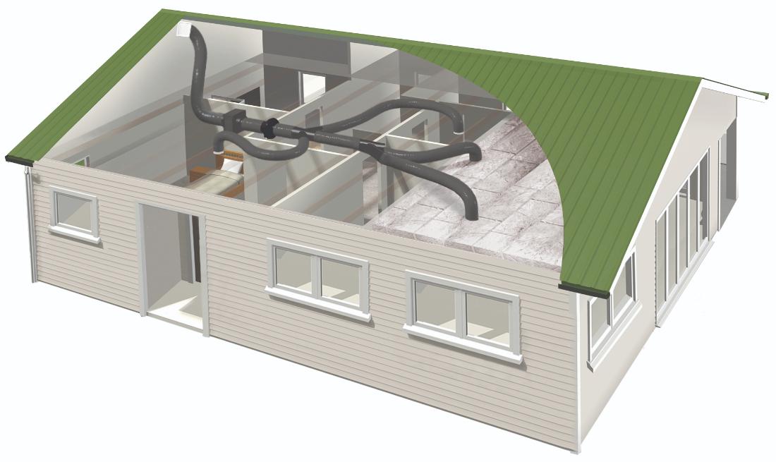 Smartvent Positive SV04 4 Outlet Home Ventilation System