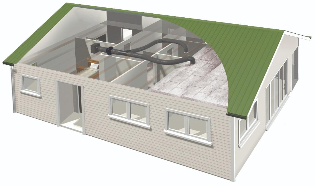 Smartvent Lite SV02L 2 Outlet Home Ventilation System