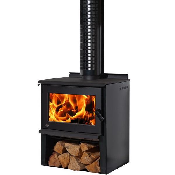 Monte Euro 20kW Wood Fire Htp Black