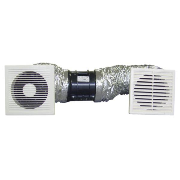 ClearFlow Inline Bathroom Extractor Fan 150mm FV110