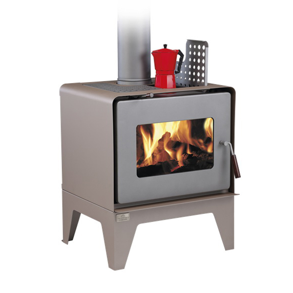 Woodsman Flare 17.1kW Wood Fire with Legs Metallic Brown
