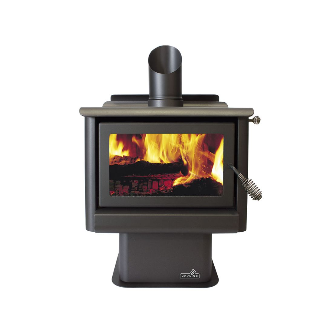 Jayline FR300 16kW Clean Air Wood Fire Metallic Black