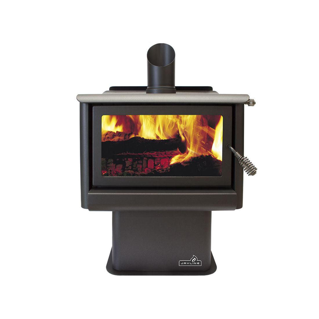 Jayline FR400 20kW Clean Air Wood Fire Metallic Black