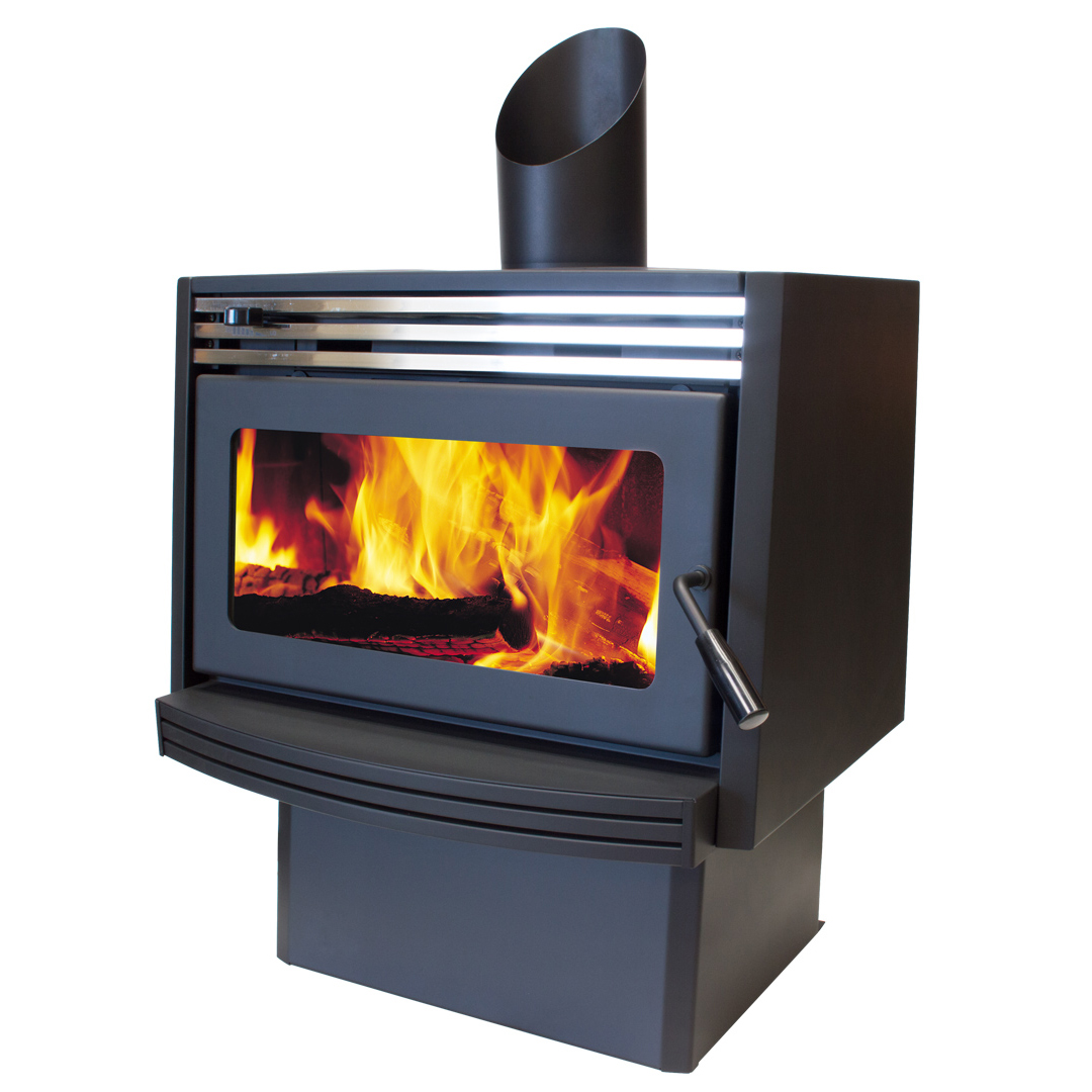 Jayline Spitfire Clean Air Wood Fire Satin Black