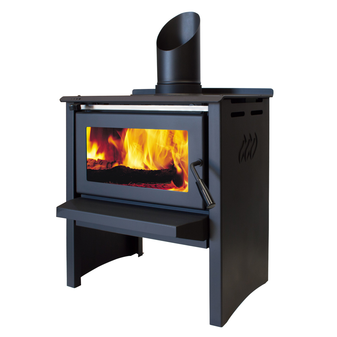 Jayline SS200 Clean Air Wood Fire Satin Black