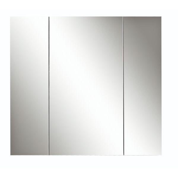 Kolum 900mm 3 Door Mirror Cabinet Wash Oak