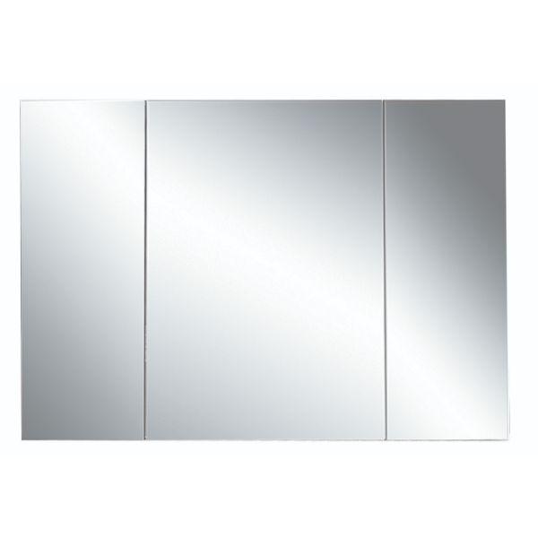 Kolum 1200mm 3 Door Mirror Cabinet Dark Oak
