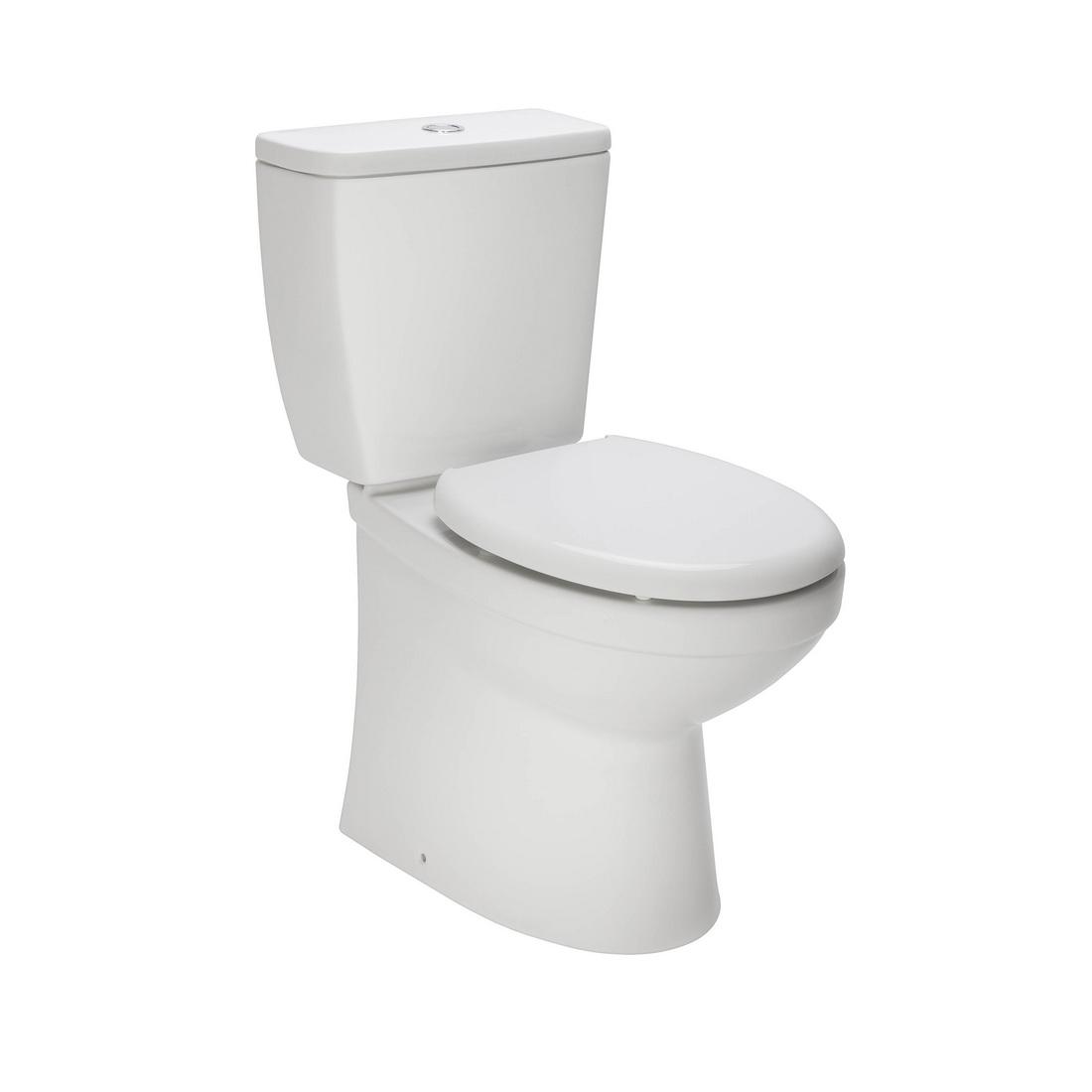 Valencia Close Coupled Toilet Suite 825 x 375 x 665mm White