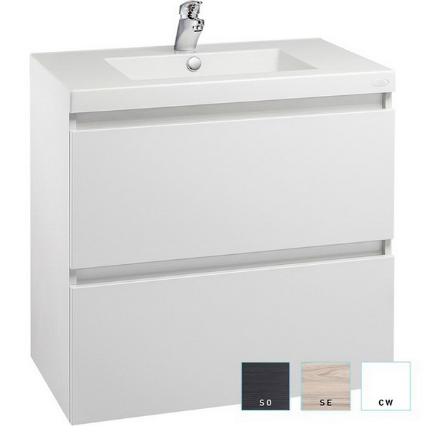 Valencia Wall-Hung Vanity 600mm High Gloss White