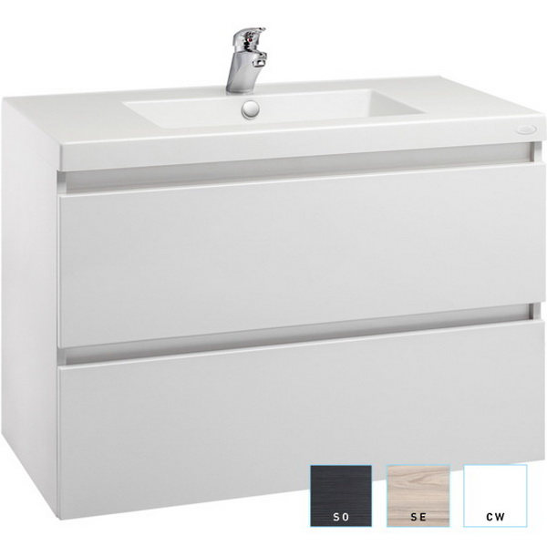 Valencia Single Bowl Wall-Hung Vanity 750mm High Gloss White