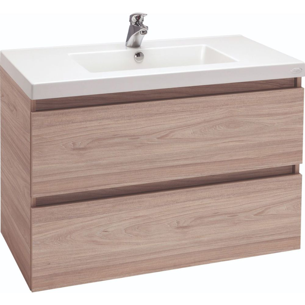 Valencia Wall Hung Vanity Salty Elm 900mm