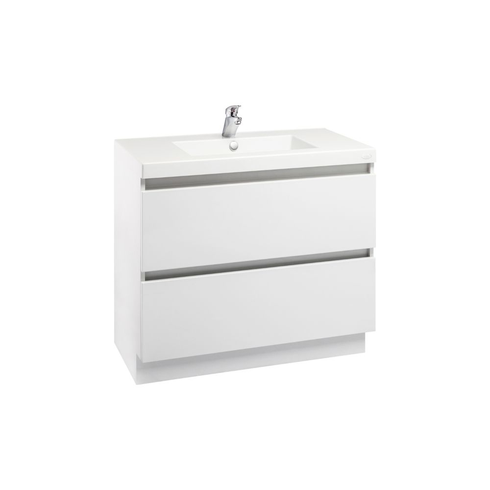Valencia Floor Standing Vanity High White Gloss 900mm
