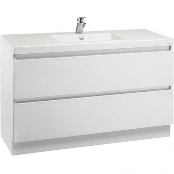 Valencia Floor Standing Vanity High White Gloss 1200mm