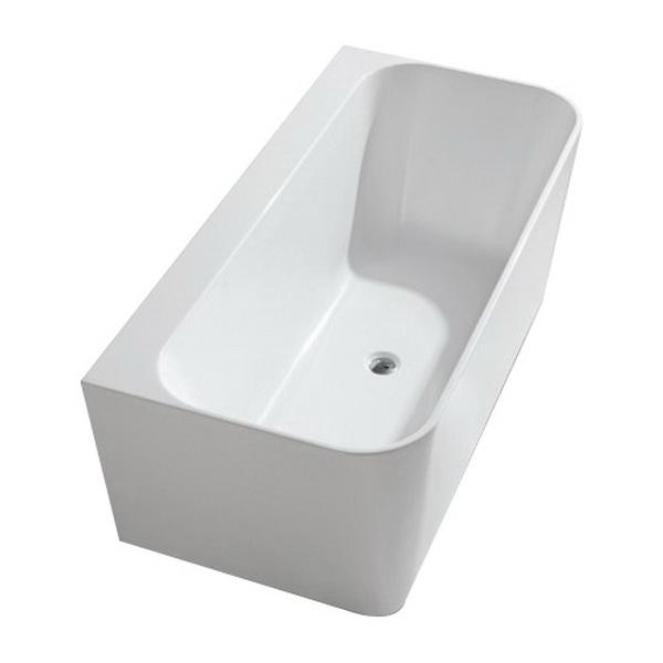 Back To Wall Bathtub 1600mm x 750mm White