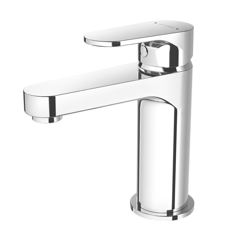 Glide Basin Mixer Fixed Cast Spout Brass Chrome Plated