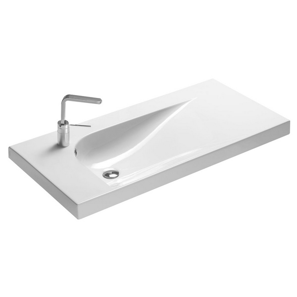 Grandangolo Right Hand Wall Basin 170 x 500 x 1005mm