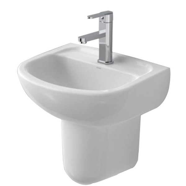 Faun Round Wall Basin White 8L 450 x 350mm