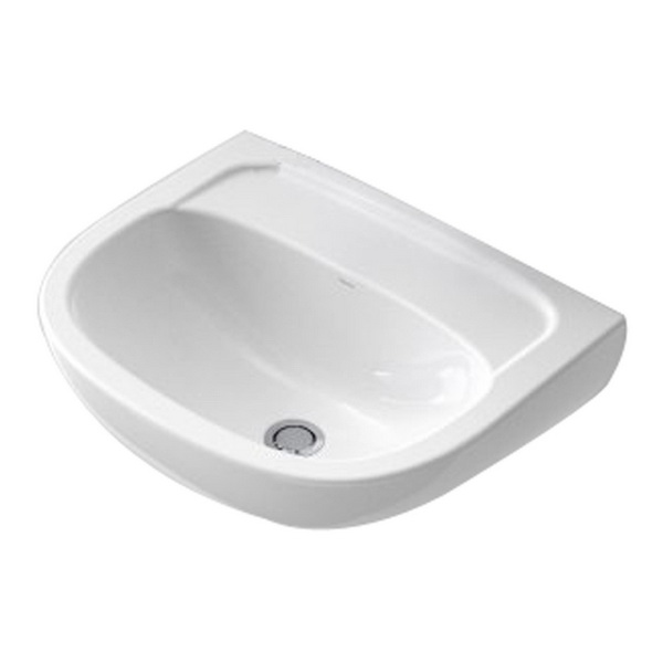 Flora Round Wall Basin White 11L 500 x 400mm