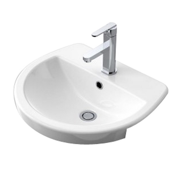 Cosmo Round Recessed Basin White 500 x 440mm