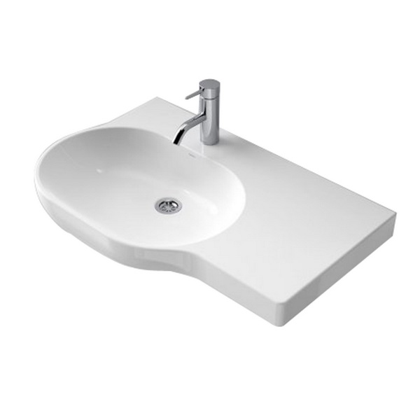 Opal 720 Series Right Hand Shelf Wall Basin White 9.5L 158 x 450 x 720mm